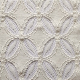 Criss Cross Leaf Corded Lace IVORY