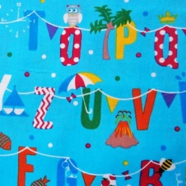 Cotton Print ALPHABET BUNTING