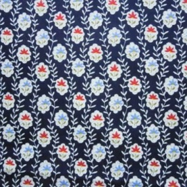 Cotton Print STEM NAVY