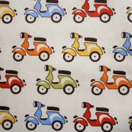 Cotton Print SCOOTERS IVORY