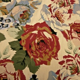 Cotton Print VINTAGE FLOWERS