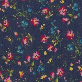 Denim Print FLOWERS PINK