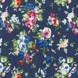 Denim Print FLOWERS WHITE