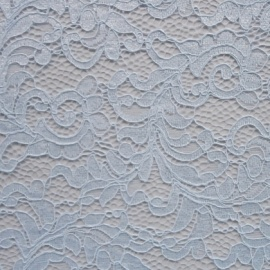 Filigree Corded Lace PALE BLUE