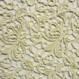 Guipure Flower Lace PALE GOLD