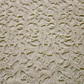 Guipure Leaf Lace IVORY