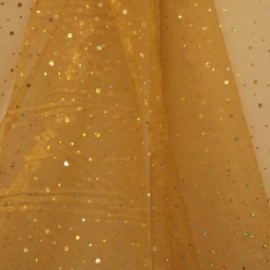Hologram Spot Organza DARK GOLD