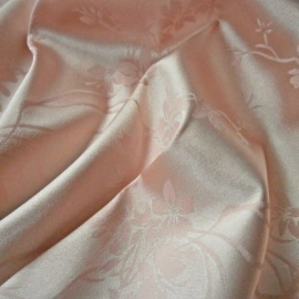 Lightweight Floral Stretch Jacquard Satin NUDE BLUSH