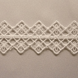 Ornate Trellis Edging Trim IVORY