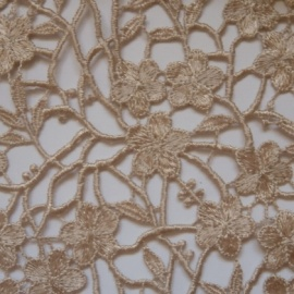 Ornate Guipure Flower Lace BLUSH