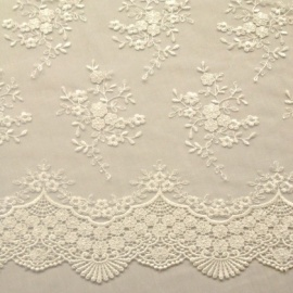 Ornate Lace Tulle IVORY