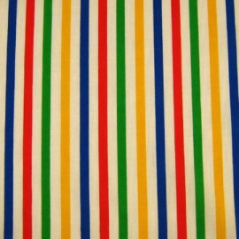 Poly Cotton Stripes MULTI-COLOUR