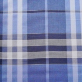 Poly Cotton Check GREY/BLUE