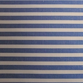 Poly Cotton Shirting BLUE STRIPE