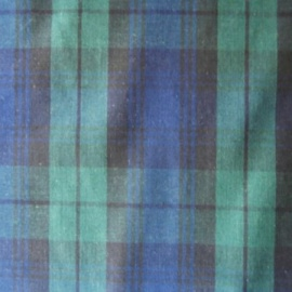Poly Cotton TARTAN NAVY