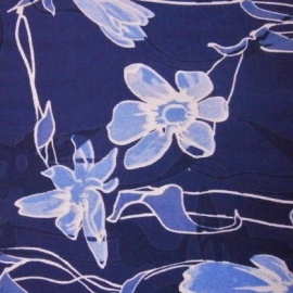 Viscose Print BLUE FLOWER