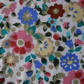 Printed Patterned Crepe FLOWERS MULTI