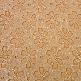 Sequin Flower Lace PEACH
