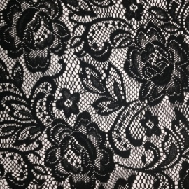 Stretch Flower Lace BLACK