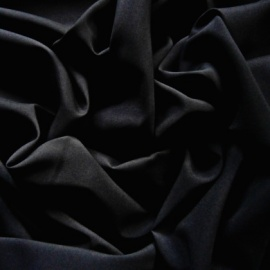 Stretch Polyester Lining BLACK