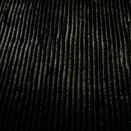 Shallow Pleat Polyester BLACK