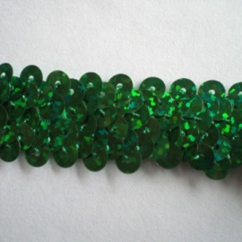 Stretch Sequin Trim Hologram EMERALD