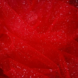 Sparkle Tulle RED / SILVER
