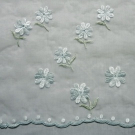Voile with Flower AQUA