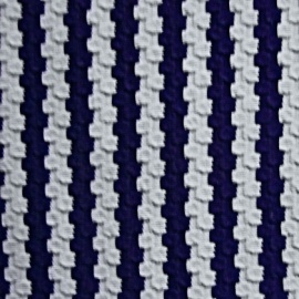 Weave Effect Jersey NAVY WHITE