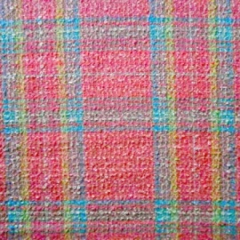 Wool Mix Boucle PINK CHECK